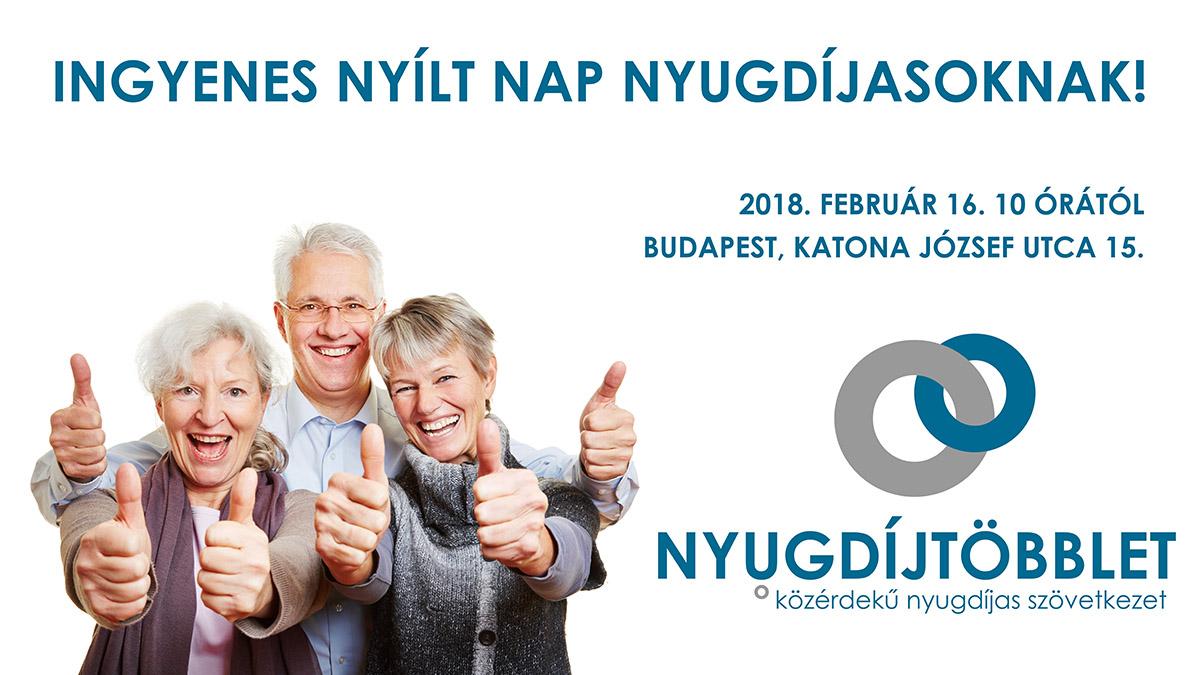 Ismerjen meg minket! Nyílt nap a Nyugdíjtöbbletnél! 2018.02.16.